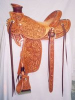 Custom-made Full Tooled Saddle