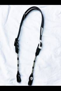 Ferrule Bridle with Silver