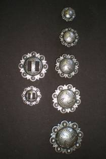 Antique Stainless Steel Conchos