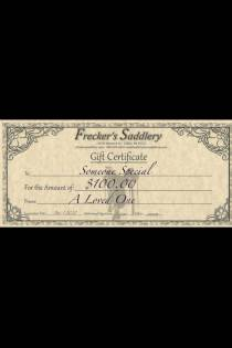 Freckers Saddlery Gift Certificate