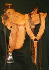 3/4 Tooled saddle made by David Rigby