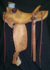 3/4 Tooled saddle made by Tyler Frecker