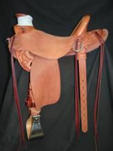 1/4 Tooled Oak Leaf Saddle