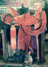 Full Tooled Daphadile Saddle made by Levi Johnson for Candy Diaz