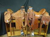 Full tooled and 3/4 tooled saddles