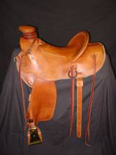 "15 ½"" light weight Wade, 4"" Horn, 4"" Cantle, Inskirt Rigging, Plain Smooth. Made by Kent Frecker"