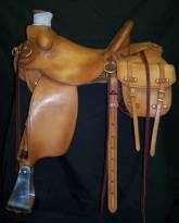 Smooth Lewis Roper with bead border and matching saddle bags. Made by David Rigby