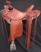 3/4 Tooled Custom Saddle made by Kent Frecker