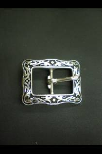 4030 Floral Buckle Black Inlay JWP