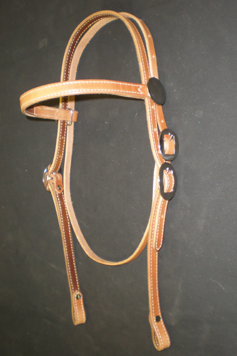 "3/4"" Headstall Smooth or Roughout"