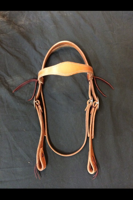 Single Scalloped Browband Headstall with Ties
