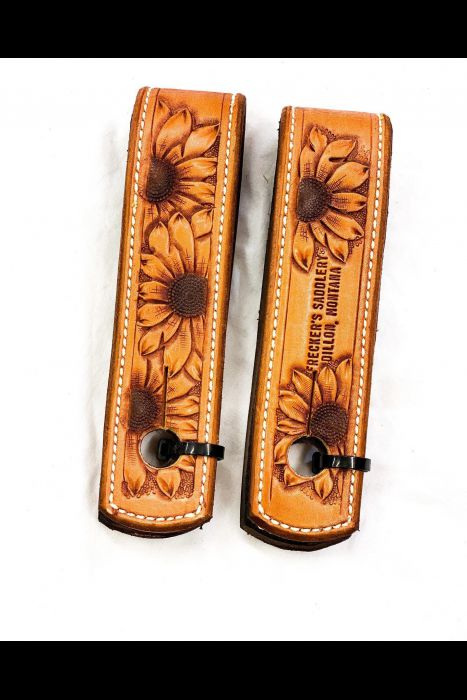 Straight Browband tooled Headstall Set   Another View
