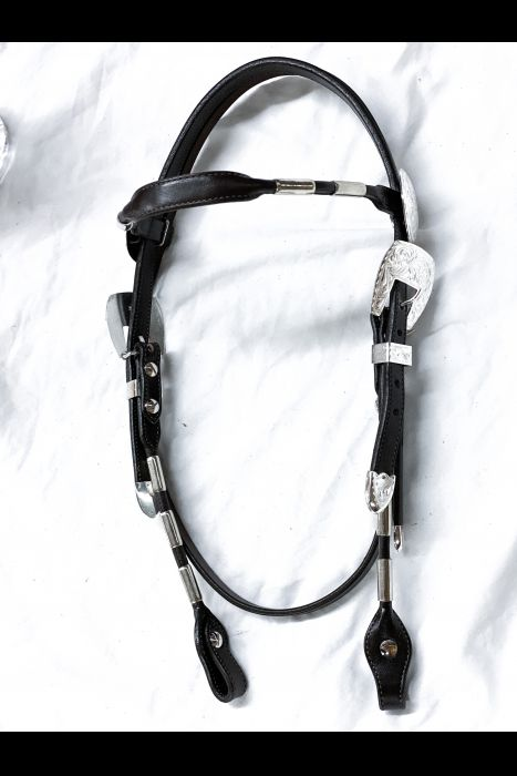 ferrule Browband bridle with silver
