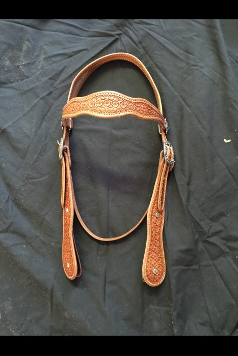 Double Scalloped Hamley Daisy Headstall