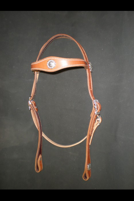 Single Scalloped Browband Headstall