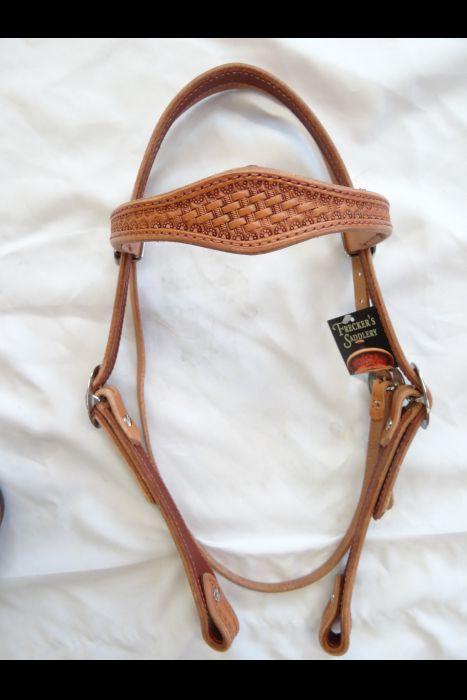 Single Scalloped Basket Browband Headstall