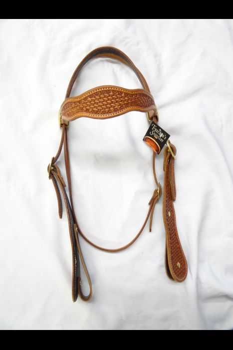 Double Scalloped Basket Stamped Headstall