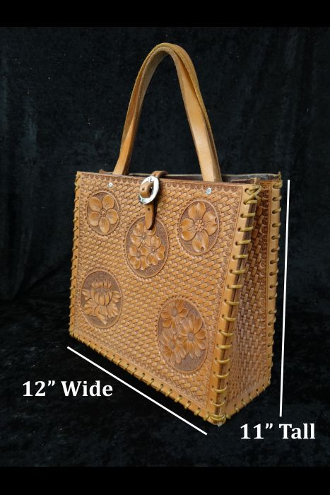 Basket Floral Tote Purse | Another View