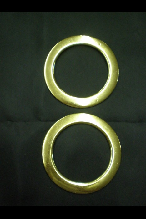 #16  3 1/2 inch Beveled Ring - Brass (pair)