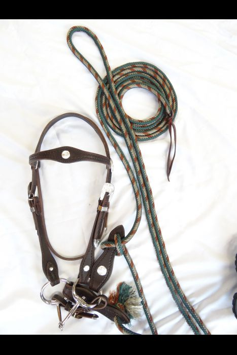 English Dark Brown Leather Bridle