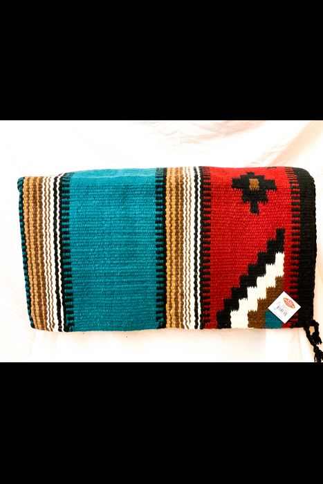 """Heavy Double Weave Saddle Blanket 32"""" X 64""""   Another View"""