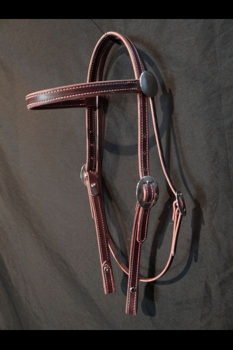 "Dark Brown 3/4"" Strait Headstall"