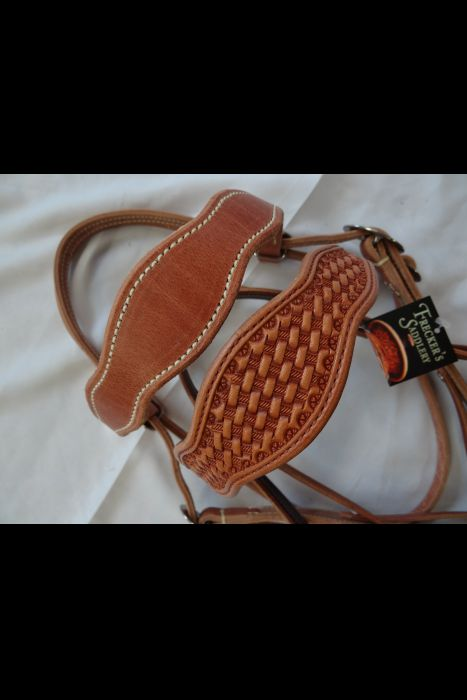 Double Scalloped Basket Stamped Headstall | Another View
