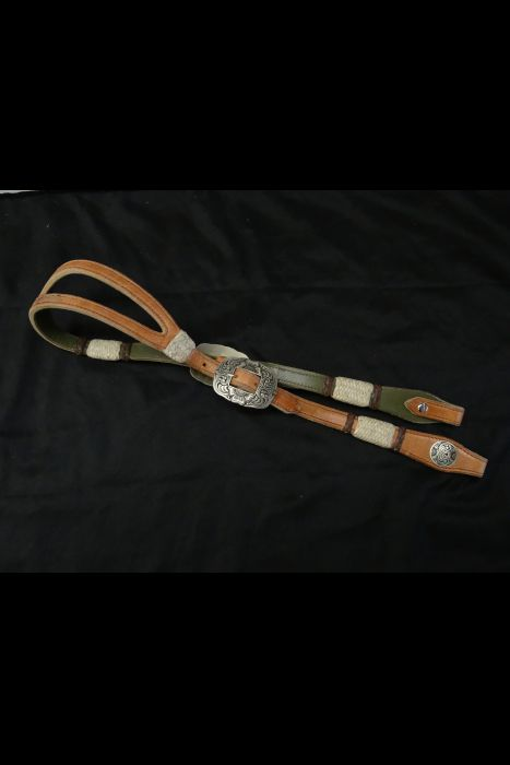 Harness Bridle with Rawhide Buttons
