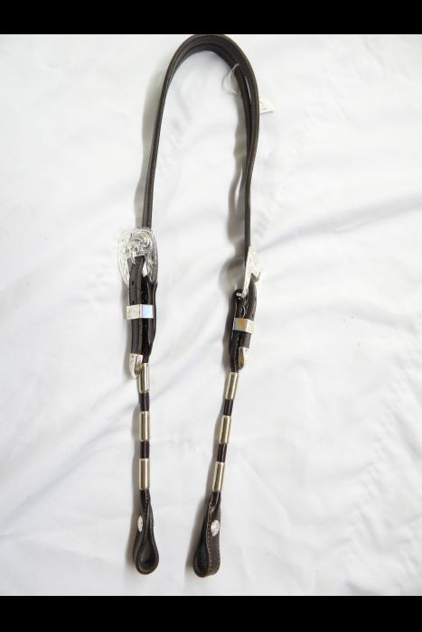 ferrule Split Ear bridle with silver