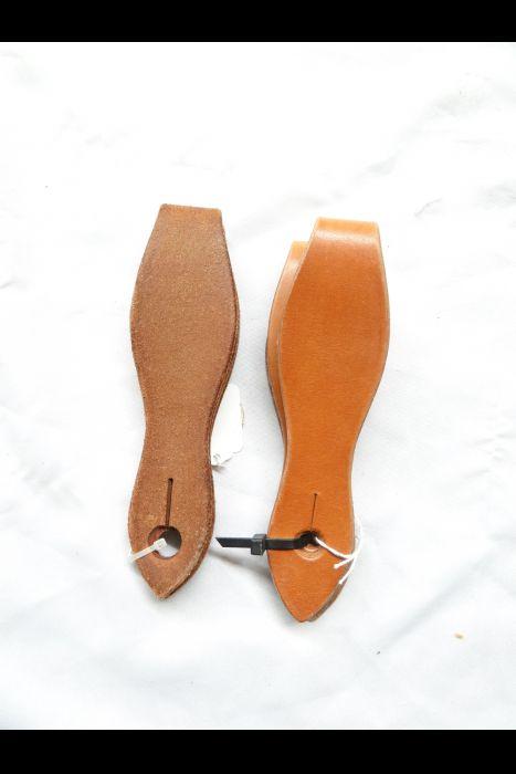 Unlined Scalloped Slobber Straps (pair)