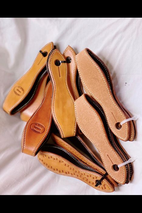 Lined Scalloped Slobber Straps | Another View