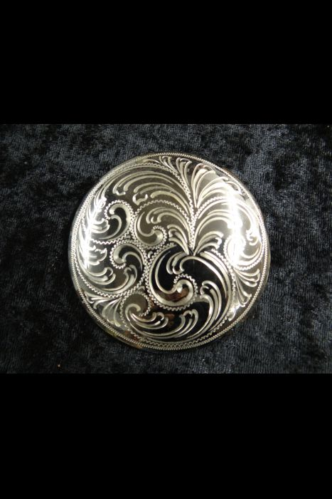 Elko Blued Silver Conchos | Another View