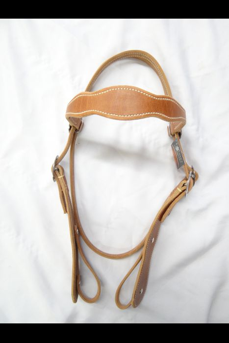 Double Scalloped Harness Headstall
