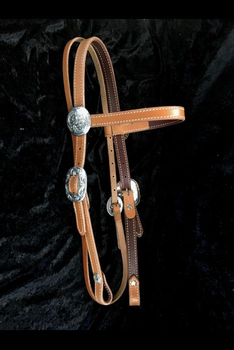 Brow-Band Bridle with Silver.