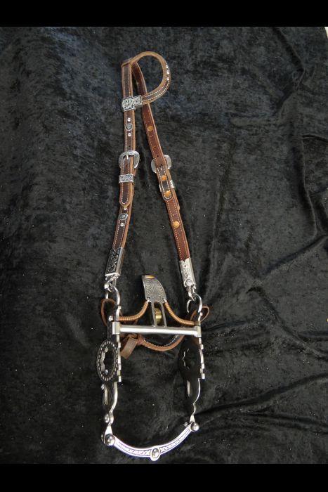 Spade Bit Bridle with Bit Hangers & Matching Bit