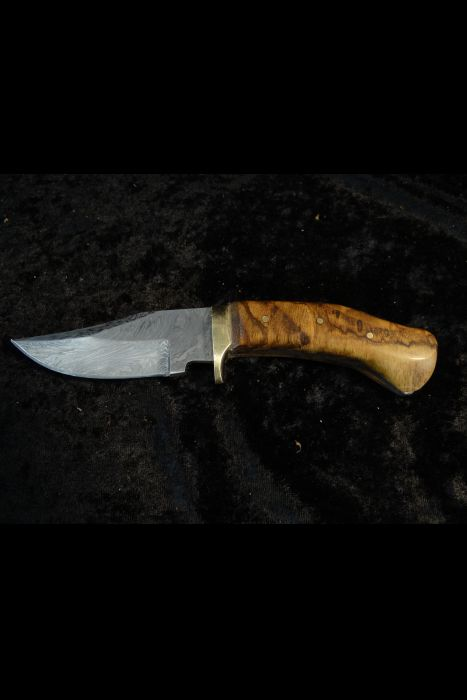 Damascus Blade with Green handle Knife #20