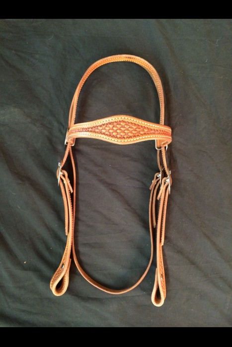 Single Scalloped Basket Browband Headstall