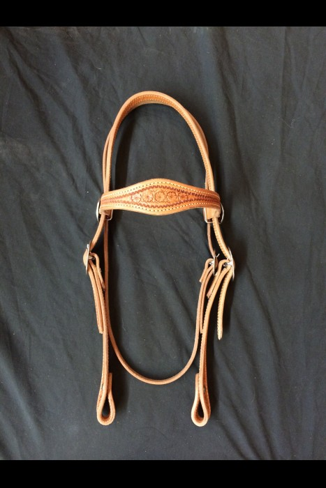 Single Scalloped Daisy Browband Headstall