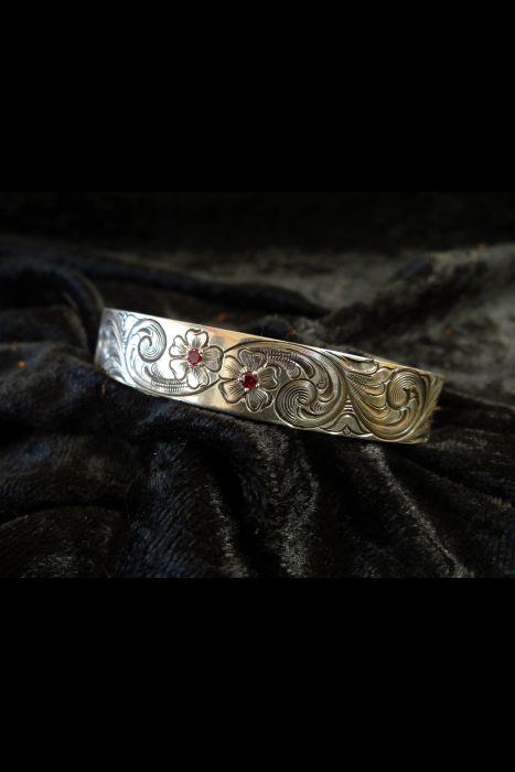 Silver Engraved Bracelet