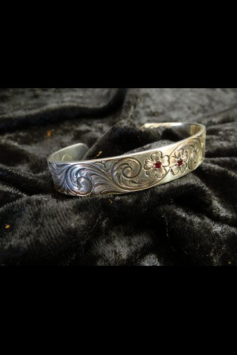 Silver Engraved Bracelet | Another View