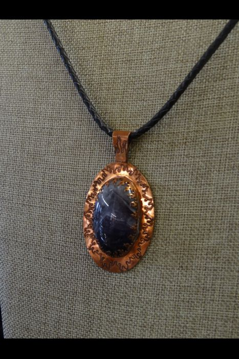 Engraved Purple Stone Necklace | Another View