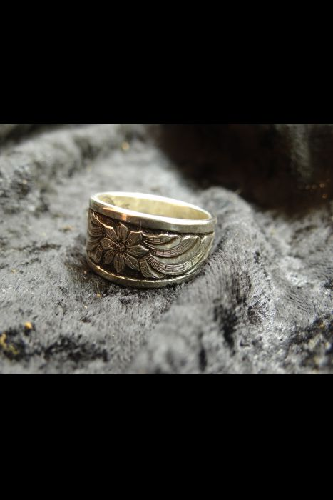 Silver Engraved Ring #11