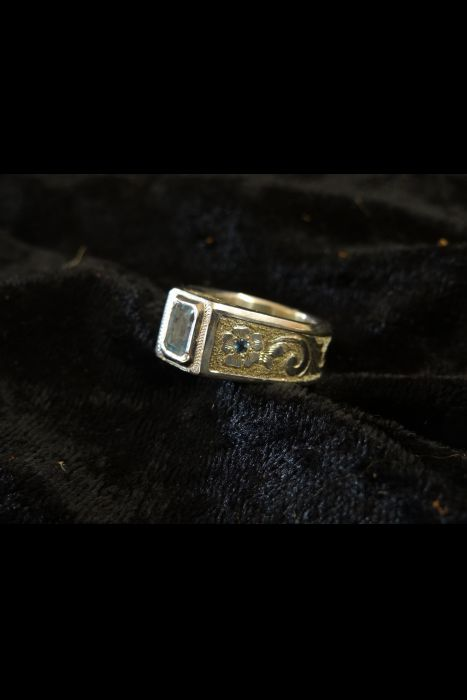 Silver Engraved Ring # 13