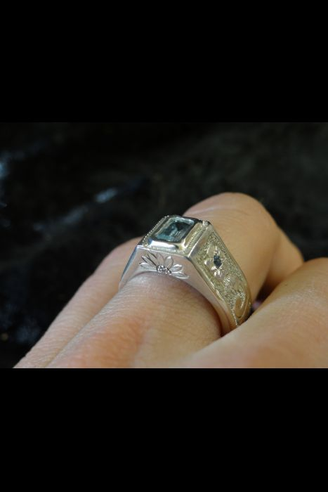 Silver Engraved Ring # 13 | Another View