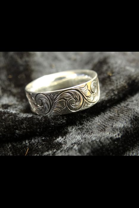 Silver Engraved Ring #15