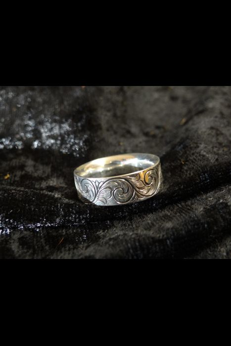 Silver Engraved Ring #15 | Another View