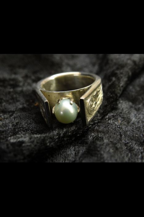 Silver Engraved Ring #16