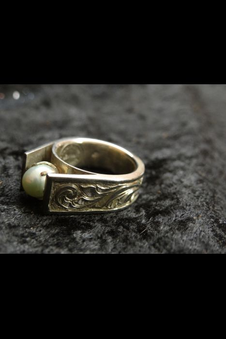 Silver Engraved Ring #16 | Another View