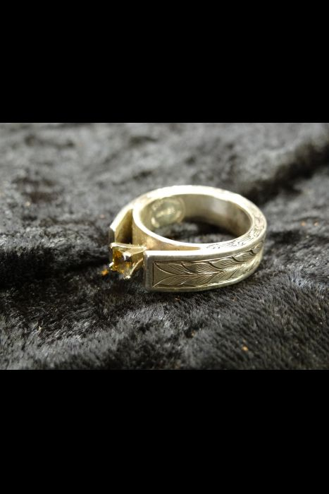 Silver Engraved Ring #17