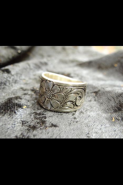 Silver Engraved Ring #21